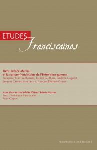 études franciscaines.couverture
